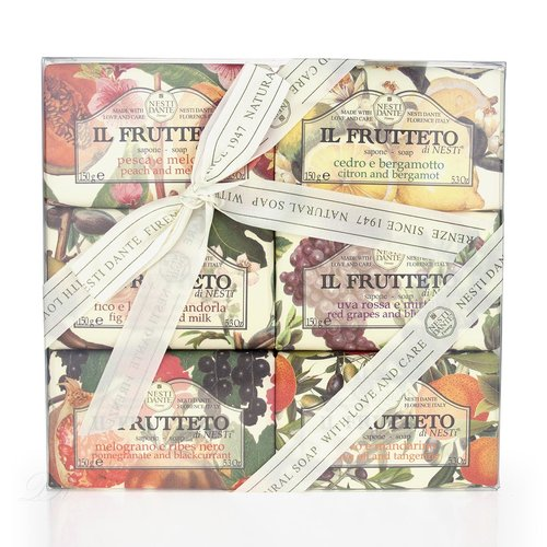 Nesti Dante Seifen Geschenk-Set Il Fruttetto Collection (6x 150g)