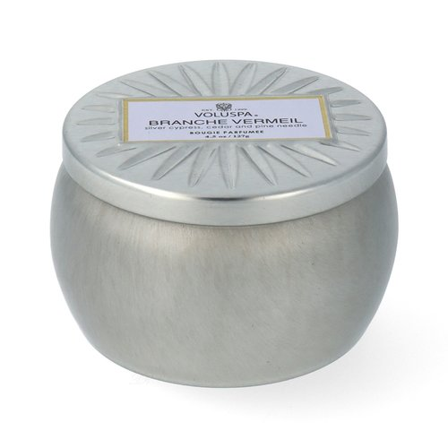 Voluspa Vermeil Collection Petit Decorative Tin Branche Vermeil Duftkerze 127 g